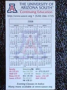 U of A Calendar